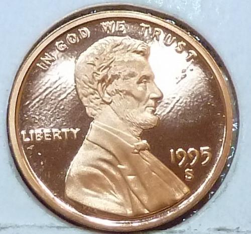1995-S  Gem Proof Cent Memorial Lincoln Cent (223-S)