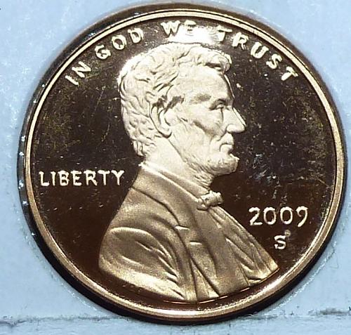 2009-S  Gem Proof Cent Professional Life Lincoln Cent (223-K)