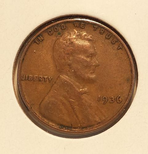 1936 Lincoln Wheat Cent Doubled Die Obverse FS101, VF30