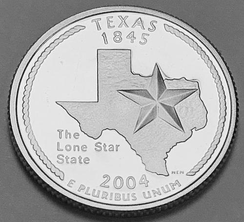 2004-S Proof Washington Quarter: 50 States- Texas [BSWQ 100]