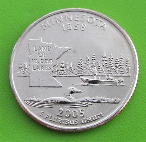 2005-D 25 Cents - Minnesota State Quarter - Uncirculated from Mint Roll
