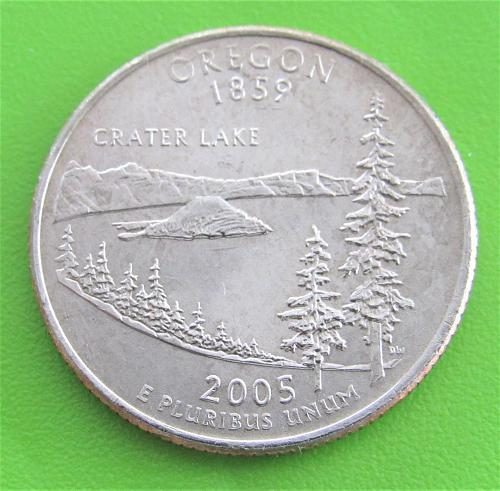 2005-P 25 Cents Oregon State Quarter - Uncirculated from Mint Roll
