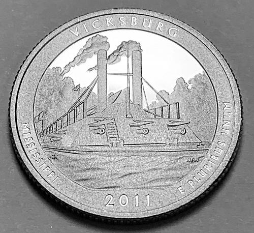 2011-S Proof Quarter: America the Beautiful- Vicksburg, Mississippi [BSWQ 120]