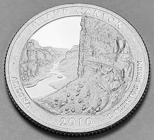 2010-S Proof Quarter: America the Beautiful- Grand Canyon, Arizona [BSWQ 128]