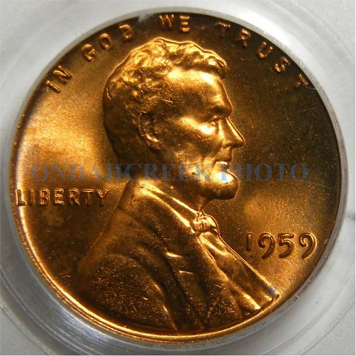 1959 Lincoln Cent PCGS MS-64 Red