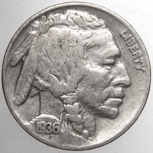 1936 P Buffalo Nickel#8