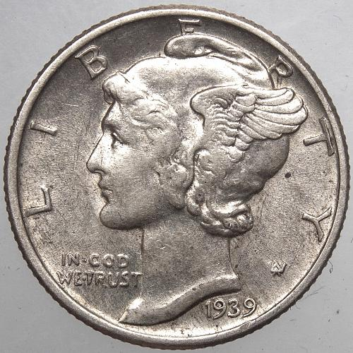 1939 P Mercury Dime#7