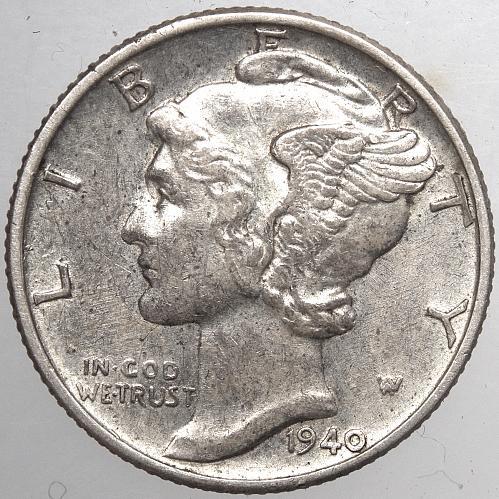 1940 P Mercury Dime#2