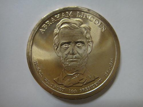 2010-P Lincoln Position B Satin Finish Presidential Dollar MS-66 (GEM)