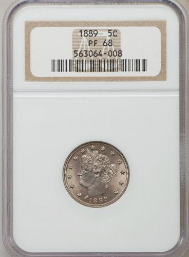 1889 Liberty Nickel PF68