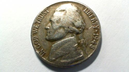 1948 D Jefferson Nickels