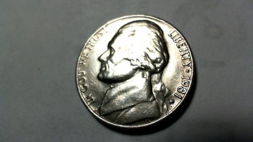 1981 D Jefferson Nickels
