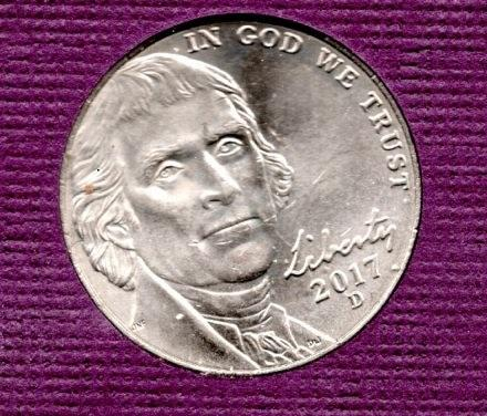 2017 D Jefferson Nickels