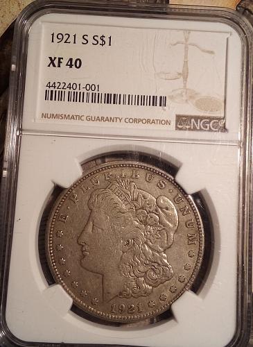 1921-S Morgan Silver Dollar NGC XF 40