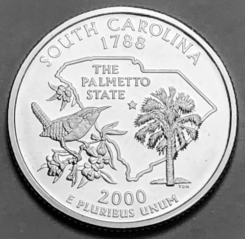2000-S Silver Proof Quarter: 50 States- South Carolina [BSWQ 164]