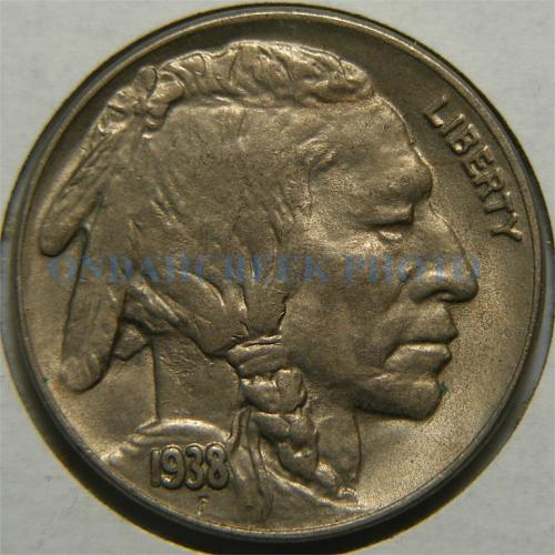 1938-D Buffalo Nickel AU