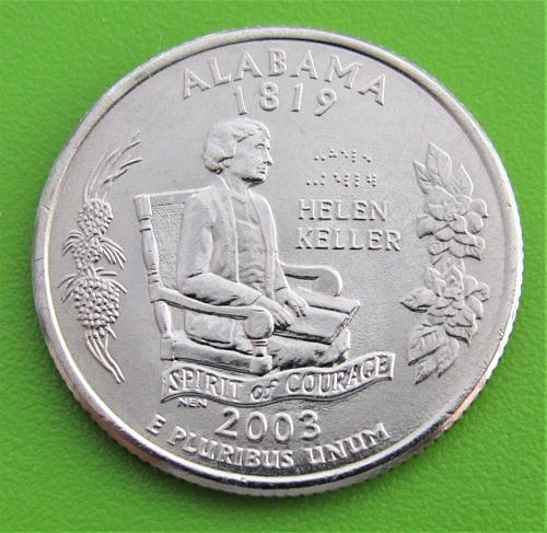 2003-D 25 Cents - Alabama State Quarter - Uncirculated from Mint Roll