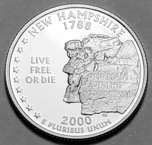 2000-S Silver Proof Quarter: 50 States- New Hampshire [BSWQ 189]