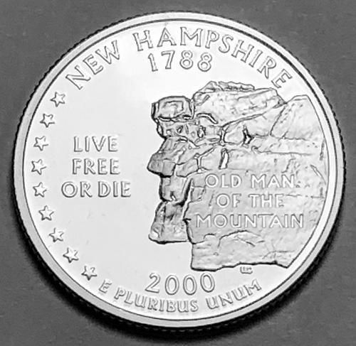 2000-S Silver Proof Quarter: 50 States- New Hampshire [BSWQ 194]