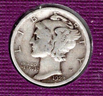 1923 P Mercury Dimes - 4