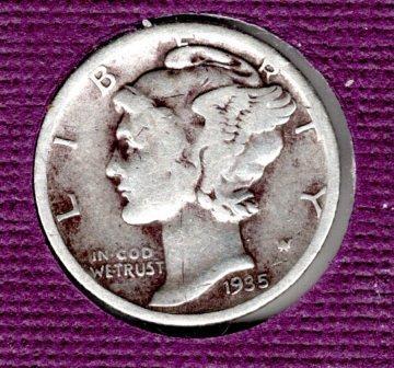1935 S Mercury Dimes - 4
