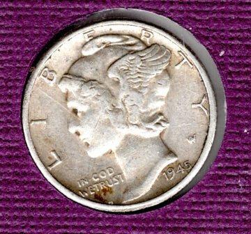 1945 p Mercury Dime #5