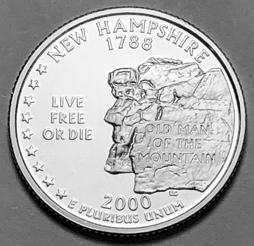 2000-S Silver Proof Quarter: 50 States- New Hampshire [BSWQ 198]