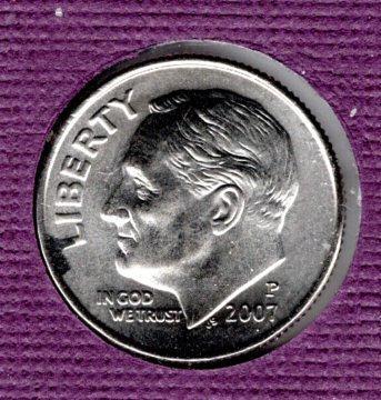 2007 P Roosevelt Dimes - 5