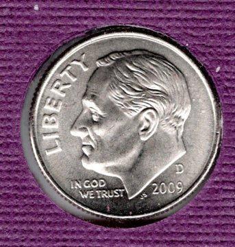 2009 D Roosevelt Dimes - 5