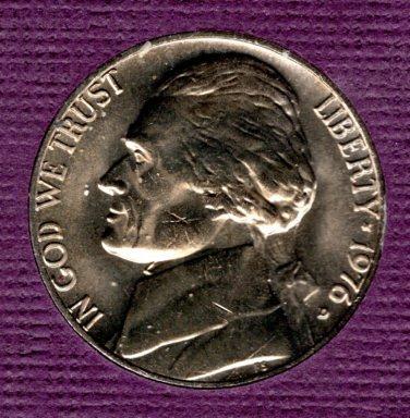 1976 D Jefferson Nickels - 5