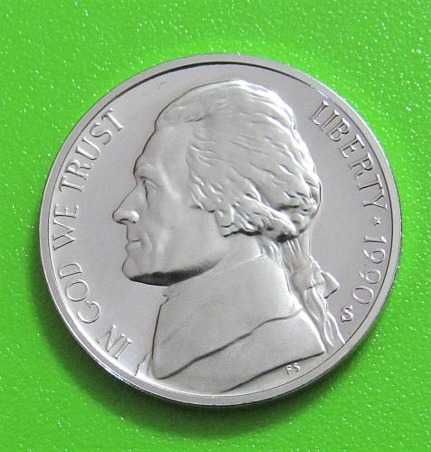 1990-S 5 Cents - Jefferson Nickel - Cameo Proof