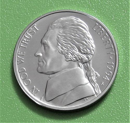 1994-S 5 Cents - Jefferson Nickel - Cameo Proof