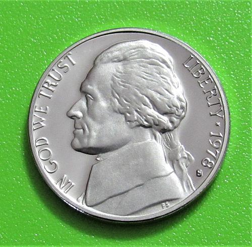 1978-S 5 Cents - Jefferson Nickel - Cameo Proof