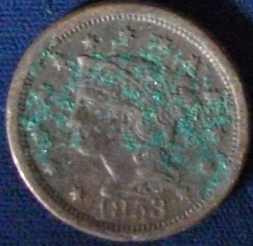 1853 Large Cent VF Details
