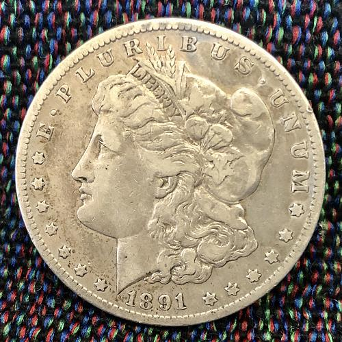 For sale a key date 1891 Carson city Morgan Silver Dollar