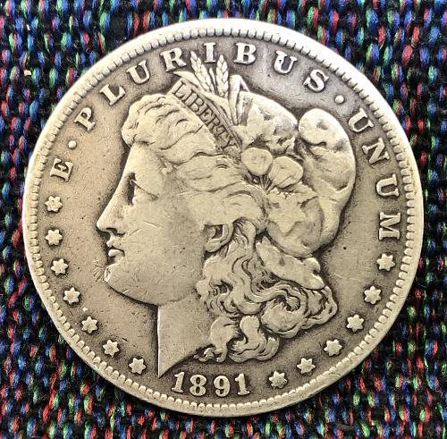 For sale a key date 1891 Carson City Morgan Silver Dollar
