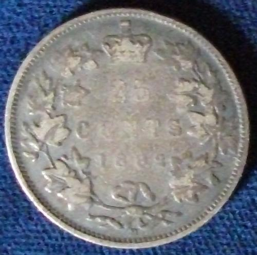 1882H Canada 25 Cents Good+