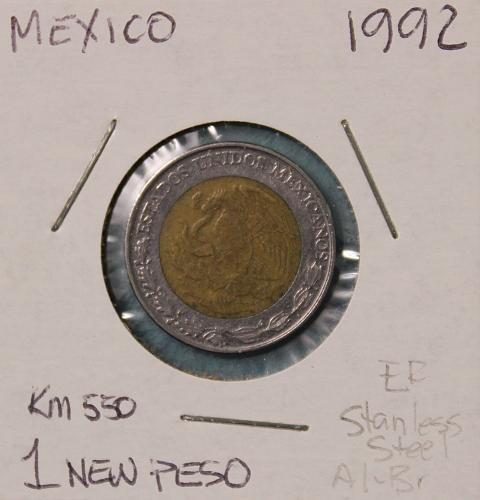 Mexico 1992 1 New Peso