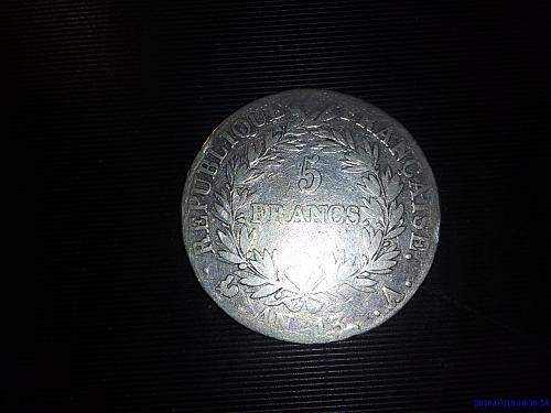 5  Francs  NAPOLEON   AN 13 A  ( KM662.1)  1803 , FRANCE
