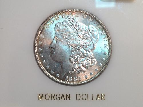 1881 P Morgan Dollar (90% silver)