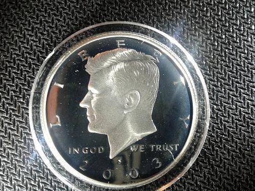2003-S  Kennedy half  90% silver proof
