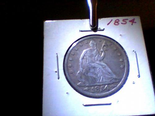 1854 Seated Liberty Half Dollar