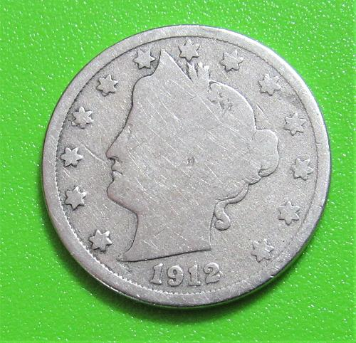 """1912-D 5 Cents - Liberty """"V"""" Nickel"""
