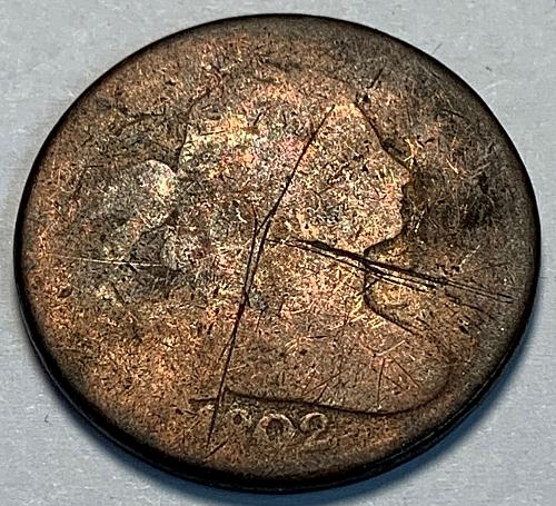 1802 Draped Bust Large Cent [LGC 77]