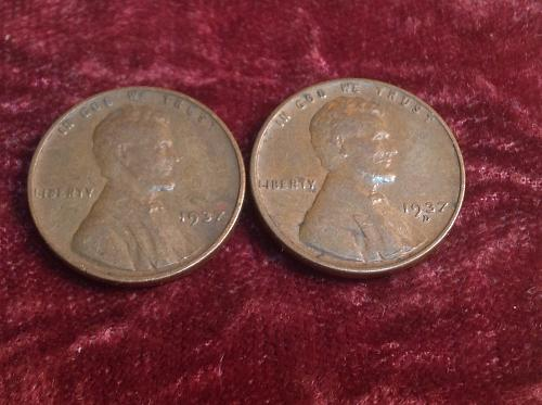 1937 P-D Lincoln Cents