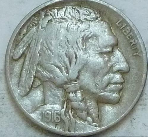 1916-P Grades EXTRA FINE Buffalo Nickel Coin XF ( 571)