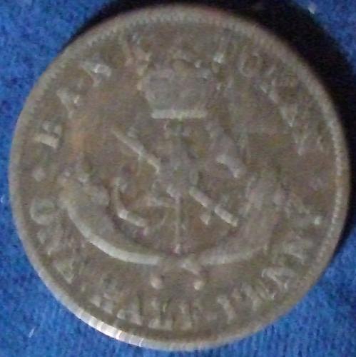 1852 Bank of Upper Canada Halfpenny Token Fine