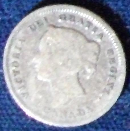 1880H Canada 5 Cents Good