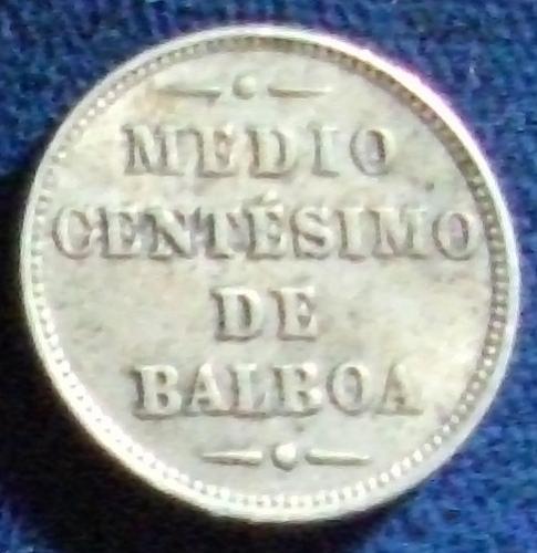1907 Panama 1/2 Centesimo VF+