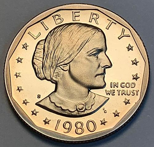 1980-S Proof Susan B Anthony Dollar [IKS 21]